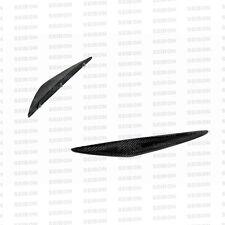 Seibon Carbon Fibre Front Bumper Canards - fits Nissan 370Z - 2009-2012 GT Style