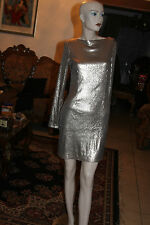 KARDASHIAN KOLLECTION SEQUIN SHIFT DRESS SIZE M