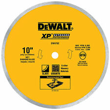 DEWALT DW4762 10 Wet Cutting Continuous Rim Saw Blade Brand New Free Shipping