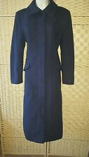 M&S navy wool & cashmere blend winter coat 8L 8 long