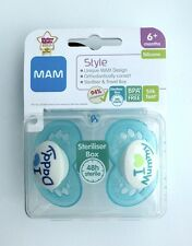 MAM - I Love Mummy & I Love Daddy Soother Twin Pack - 6m+ (Blue) (2546)