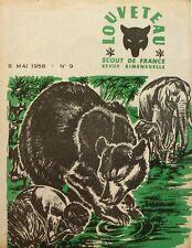 Louveteau n°9 - 1958 - Scout de France - Fabriquer une travailleuse - Camp
