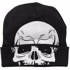 Men Knit Beanie Skull Skeleton Rolldown Hat Mask NEW