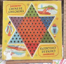 Vintage Shanghai 1938 Transogram Co. Cardboard Chinese Checkers , Two Sided