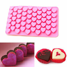 Silicone 55 Mini Hearts Ice Cube Candy Chocolate Cake Cookie Cupcake Soap Molds