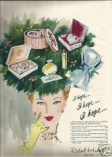 40's Vintage Richard Hudnut Perfume Advertisement 1943