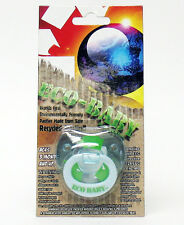 Billy Bob Eco Baby Pacifier Blue and Green shower gift nipple binky nuk safe new