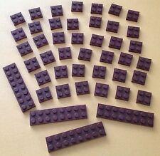 #3022 #3034 Lego Basic 40 Stück Platten 2x2, 2x8 Braun Piraten Neuwertig