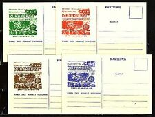 """"""" Indonesia, 1968 issue. 4 Scout Post Cards for National Jamboree."""