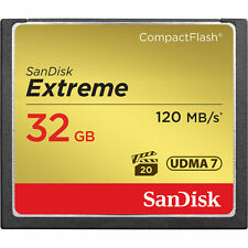 32GB SanDisk Extreme CompactFlash CF Memory Card 120MB/S UDMA SDCFXS-032G 4K