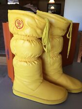 ROCKET DOG POPCORN Boots Womens Size 6-1/2 Yellow Knee High Faux Fur Lined NICE