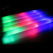 "12PCS Light-up Foam Sticks LED Multi Color Rave Rally Baton Soft Wands 19"" Long"