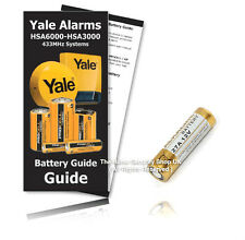 Yale Alarms RM4000Y Remote Control Replacement 12v 27A Battery KIT ( Inc Guide )