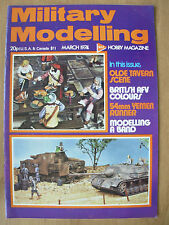 MILITARY MODELLING MAGAZINE MARCH 1974 OLDE TAVERN SCENE - BRITISH AFV COLOURS