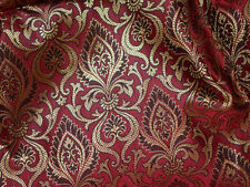 Jacquard fabric Brocade Fabric Maroon Gold brocade Art silk fabric