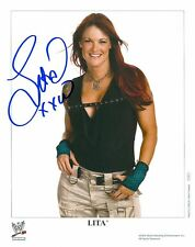 LITA WWE SIGNED AUTOGRAPH 8X10 PROMO PHOTO W/ PROOF