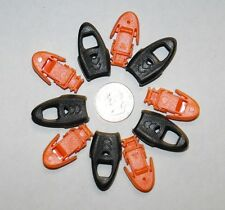 Lot 5 Plastic Zipper Pull Cord Lock Ends For Paracord w/ Whistle ORANGE or BLACK