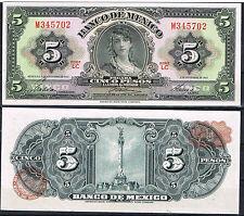 MEXICO 5 PESOS AÑO 1961 Pick 60g Serie LC   SC  UNC
