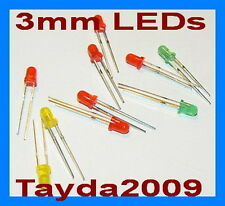 300pcs (100pcs each color) LED 3mm Red Green Yellow