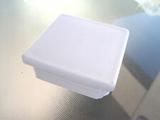"""3"""" White Square Tubing Plastic Hole Plug End Cap, 3x3 Fence Post Insert Cover"""