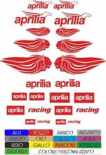 KIT 20 ADESIVI APRILIA RACING LEONE RSV4 THE FLYING MYTHOS MOTO STICKERS COD16