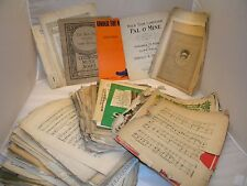Vintage Sheet Music Lot pages, 5 lbs craft paper scrapebooking decoupage