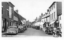 England Saxmundham Market Place, Auto, Cars, Real Photo, Sincere Greetings!