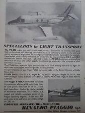 9/1968 PUB PIAGGIO DOUGLAS PD-808 P166 PORTOFINO AIRCRAFT AVION FLUGZEUG AD