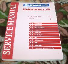 2004 Subaru Impreza Chassis Section 7 Service Manual Very Clean