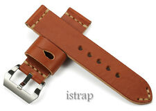 Soft 24mm Genuine Leather Watch Band Strap & 24mm S/S Buckle For Luminor U-Boat