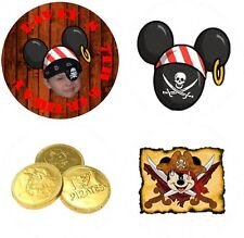 108 Pirate Mickey Mouse Hershey Kiss Kisses Labels Birthday Party Favors Photo