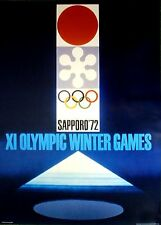 "1972 Sapporo, Japan - WINTER OLYMPIC POSTER - IOC Licensed reprint  13"" x 18"""