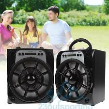 Portable Outdoor Bluetooth Wireless Loud Speaker Super Bass USB/AUX/FM Amplifier