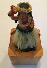 Hawaii Dancing Bobble Wiggle Hula Girl Doll Dashboard Dancer Figure Wooden Base