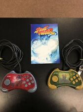 Street Fighter 15th Anniversary Controller Lot Of 2 Guile And Bison With Comic