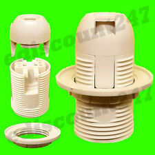 CE CERTIFIED SES E14 Screw (WHITE) Light Bulb LED Pendant Lamp Holder UK SELLER.