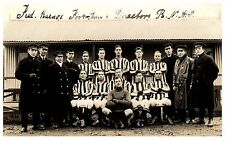 Postcard WW1 Royal Navy Air Service RNAS Football Team & Officers RPPC 8