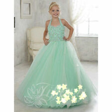 Flower Girl Dress Wedding Princesses Birthday Prom Pageant Party Dance Ball Gown