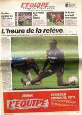 Cahier Spécial Coupe du Monde de L'équipe n°17524 du 9 juin 2002 - Football