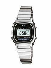 Casio Ladies Digital Silvertone Watch, Chronograph. Alarm,  LA670WA-1