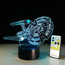 Star Trek USS Enterprise 3D LED Night Light Touch Table Desk Lamp Room Deco B306