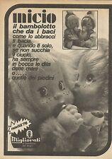 X9915 Micio il bambolotto che da i baci - Migliorati - Pubblicità 1976 - Advert.