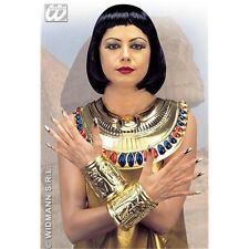 Adult's Cleopatra Collar & Wristabands - Thin Plastic Neck Wrist Bands Egyptian