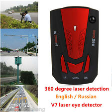 Cobra V7 16Band 360° Car Radar Laser Detector Traffic Alerts English Russian RED