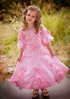 Rosette Vintage Victorian Dress Party Fancy Costume Child Girl Age 2y-9y VD002
