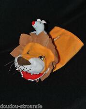 Peluche Doudou Marionnette Lion & Sa Souris IKEA Klappar Vild Orange TTBE
