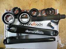 DiamondBack 3 piece crank set bmx vélo essieu bras old school taille roulements