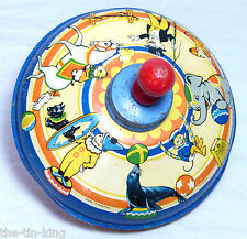 SPLENDID VINTAGE CHAD VALLEY CIRCUS HUMMING TOP TIN PLATE C1950S