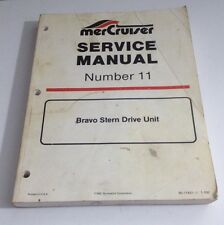1992 MerCruiser #11 Bravo Stern Drive UNIT Service Repair Shop Manual