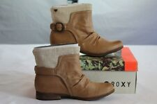 "ROXY ""QUINN"" TAN CASUAL BOOTS WOMEN'S MOTORCYCLE STYLE size 8.5 / Eight & 1/2"